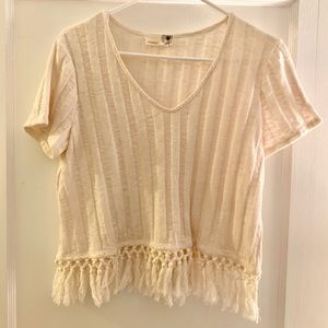 White Top with Fringe